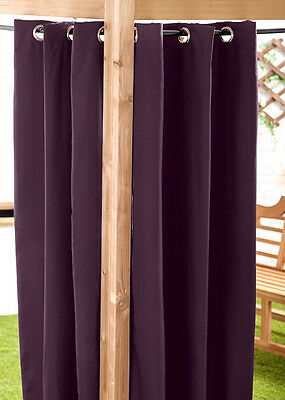 Purple 140 x 180cm Outdoor Curtain Eyelet Panel Garden Décor Drape Patio Shade