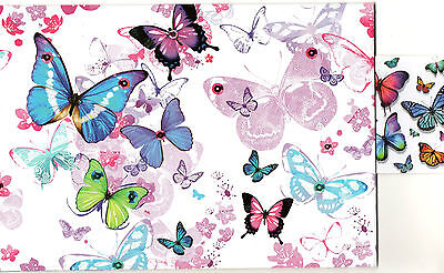 Butterflys Gift Wrapping Paper 2 Sheets 1 Tag 50 X 70 Cm
