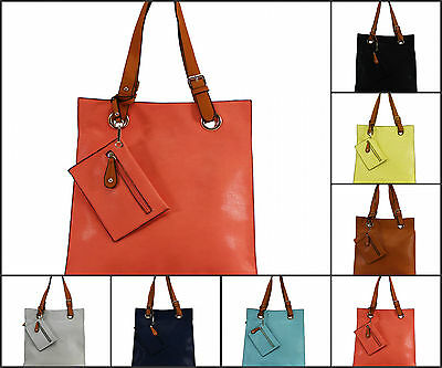New Large Women Faux Leather Shoulder Ladies Tote Bag Girls Cross Body Handbag