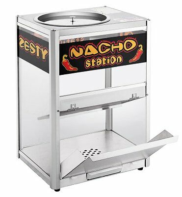 Commercial Popcorn Heat Display Cabinet Nacho Chip Warmer Countertop Restaurant