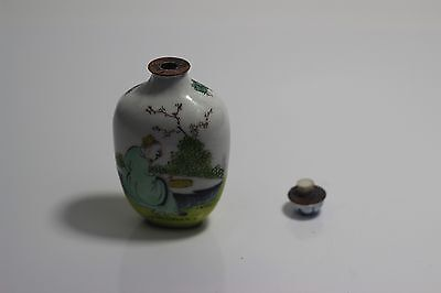 Antique Chinese Cloisonne Snuff Bottle