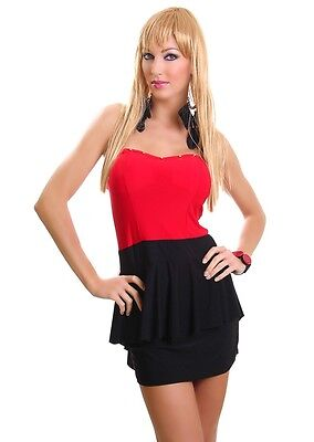 HOLIDAY, Red/black  CLUB WEAR  MINI DRESS RED AND BLACK SALE £8.39  Brand new