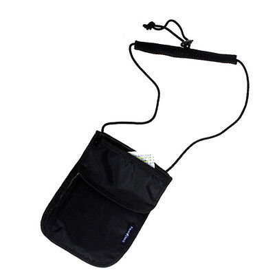 1PC Travel Security Pouch Hidden Money Belt Bag Hanging Neck Wallet Random Color