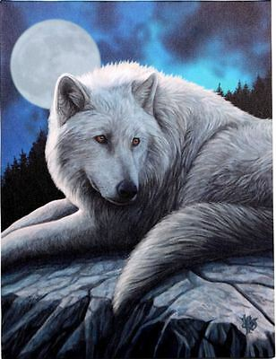 "Guardian of the North Canvas Plaque by Lisa Parker Wolf 10"" x 7.5"""