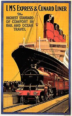 Vintage CUNARD Europe America Travel//Advertising Poster A1A2A3A4Sizes