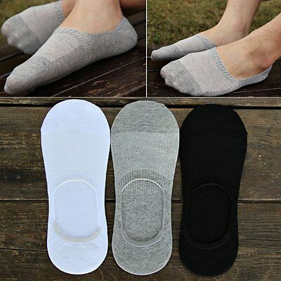 6 Pairs Men Loafer Boat Invisible No Show Nonslip Liner Low Cut Cotton Socks US