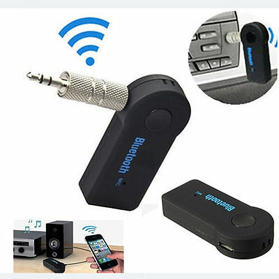 Bluetooth 3.5mm AUX Music Stereo Home Car Audio Receiver Adapter Hands-Free Kit#