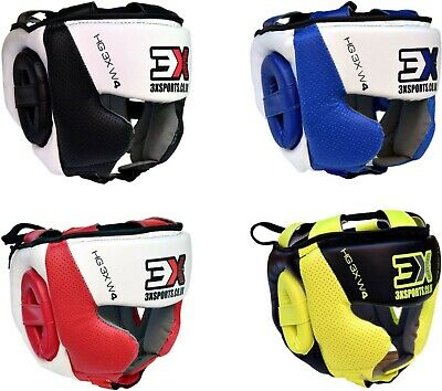 3XSports Head Guard Helmet Kick Boxing Gear Face Protection Headgear Protective