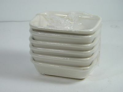 Buffalo China by Oneida Restaurant Ware Butter Dish Side Dish White New Lot of 6