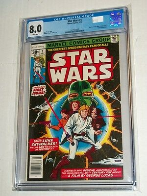 Marvel STAR WARS #1 CGC 8.0 Part 1 of A New Hope Movie Adaptation