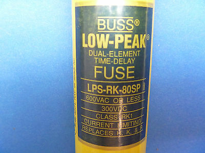 Buss 'LOW PEAK' LPS-RK-80SP Dual Element Time Delay 80 AMP Fuse 600VAC