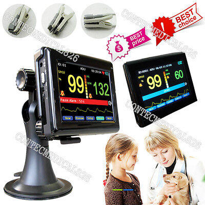 VET Veterinary Pulse Oximeter Touch Patient Monito Blood Oxygen Tongue/Ear SpO2