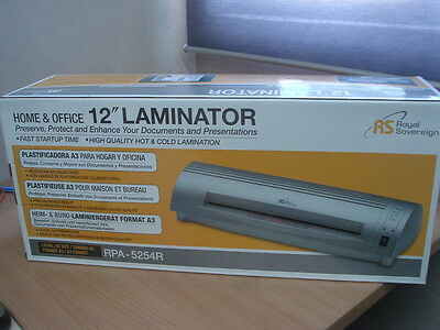 "Brand New Royal Sovereign 12"" Laminator"