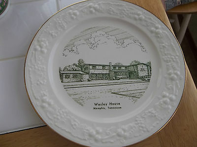 Wesley House Plate (Memphis,tennessee)