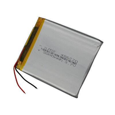 3.7V 3000 mah Polymer rechargeable Li Battery For PDA GPS DVD Tablet PC 486270