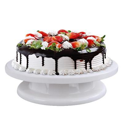 Turntable Cake Stand Swivel Plate Rotating Revolving For Sugarcraft Decorating