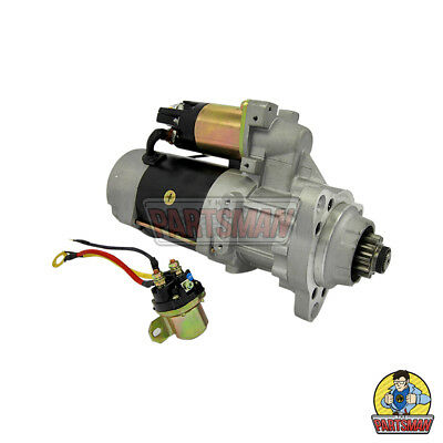 New Starter Motor Cummins Navistar Maxxforce Mack Volvo 12V Ext Indexing D/E Hsg