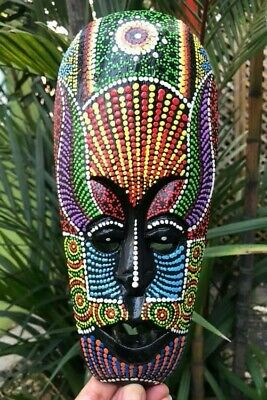 Australian Mask Tribal Indonesia Aboriginal African Paint Wooden Wall Home Decor