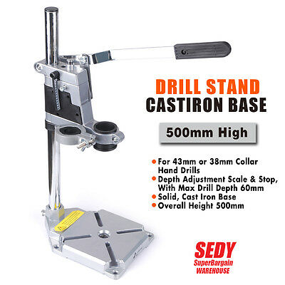 2 Mounting Holes Universal Drill Press Stand Heavy Duty Frame Cast Metal Base