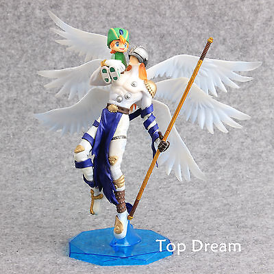 Anime Digimon Adventure Angemon & Takeru PVC Action Figure Model Doll Toy Gift