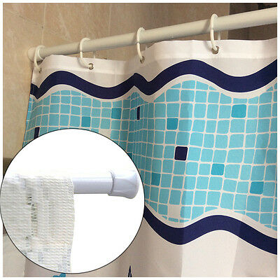White Hot Extendable Spring Net Shower Curtain Rod Voile Tension Telescopic Pole