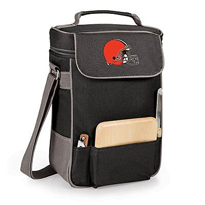 Picnic Time Cleveland Browns - Duet Wine and Cheese Tote -Black with Grey NEW
