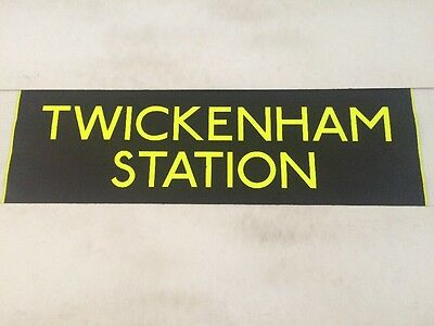 "London Bus Blind Fulwell 3716 34""- Twickenham Station - England Rugby"
