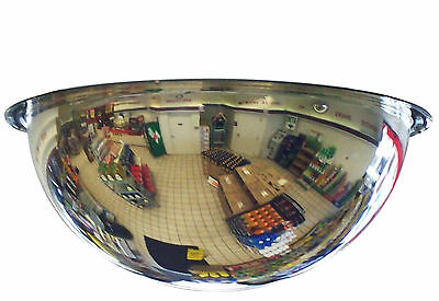 "#1 Industrial Rated 18"" Diameter Acrylic Safety & Security Full Dome Mirror"