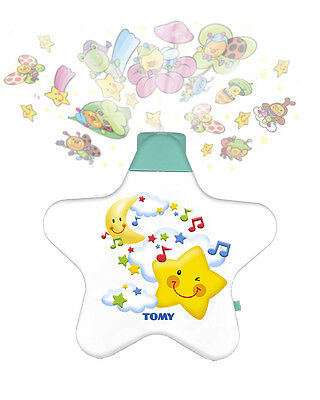 Tomy Starlight Dreamshow Cot Mobile Crib Toy Soother Projector Light White Y7585