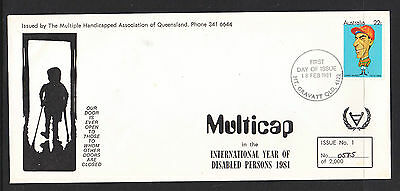 1981 Fdc Limited Edition International Year Of Disabled Persond  #585 Of 2000#1