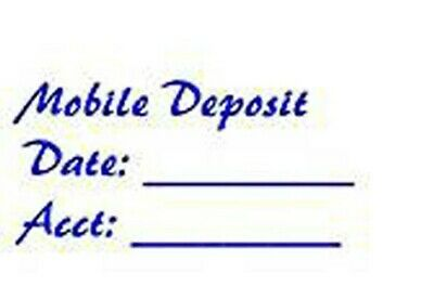 """OFFICE USE 9013 Custom 4 Line /""""FOR DEPOSIT ONLY/"""" Self Inking Rubber Stamp BANK"""