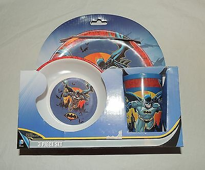 NEW Baby, Toddler, Kid, Batman Dish Set, Plate, Bowl, Cup, Feeding  DC Comics