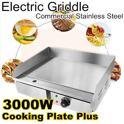 3000W Benchtop Electric Griddle Grill Hot Plate Cooktop Commercial Plate Plus