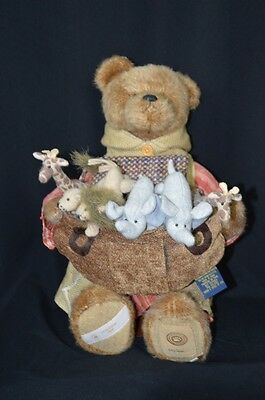 Mr. Noah & Friends Boyds Bear & Stand 551/1000 Limited Edition NEW 2008 Ark