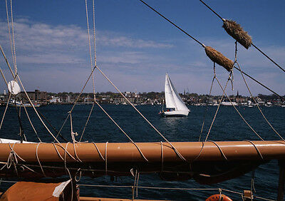Art print POSTER Sailboat Seen Through Mast and Sail