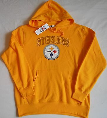 Pittsburgh Steelers Men s Hooded Sweatshirt Hoodie M L Xl 2X Yellow Nwt Nfl  Team c7a2c4ded