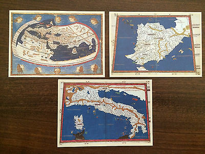 "Vatican City 1991 Set of 3 FDC Postcards ""Maps of the Vatican Library"""