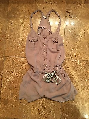 Beige jumper romper small
