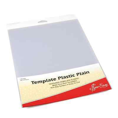"Template Plastic Plain 11"" x 8"" - 2 Sheets"