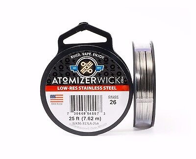 SS 317L - 25 ft. 26 Gauge AWG Stainless Steel Resistance Wire 0.40 mm 26g 25'