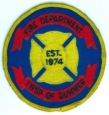 Vintage Dummer Township Fire Department Uniform Patch Ontario ON Canada