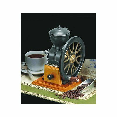 New Coffee Grinder Iron Cast Mill Antique Vintage Wood Hand Crank Gift Free Ship