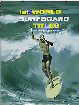 May 1964 1St. World Surfing Titles Held Manly Souvenir 40 Page Magazine  Nsw R6.