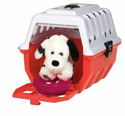 Kids 15-Piece Toy Dalmatian Dog Veterinary Kit Puppy/Accessories/Storage Carrier