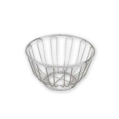 6x Round Bread Basket, Chrome Plated, 200x115mm, Serving or Counter Basket