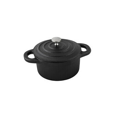 6x Mini Casserole Dish, Round w Lid, Cast Iron, MODA Oven to Table, 100mm, Cafe