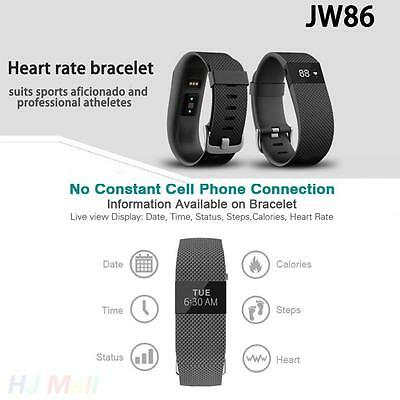 JW86 Bluetooth 4.0 Wireless Heart Rate Smart Watch Wristband For Android IOS CA
