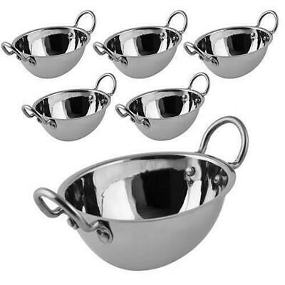 6x Serving Bowl Oval, Curry, Relish, Sauce, Dip, Stainless Steel MODA Soho 130mm