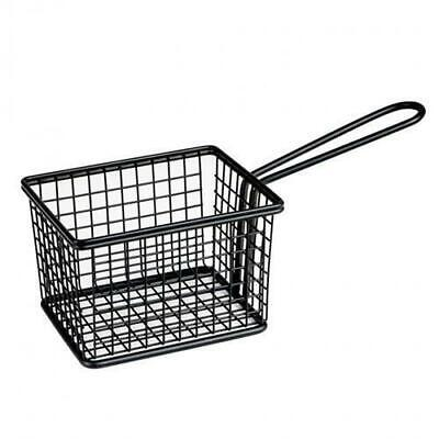 Fryer Style Serving Basket 120x100mm, Black, Chips / Fries / Sides / Tapas