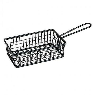Fryer Style Serving Basket 160x104mm, Black, Chips / Fries / Sides / Tapas